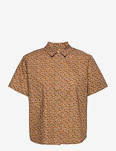 Mina shirt ss aop 11332 - overhemden met korte mouwen - blossom