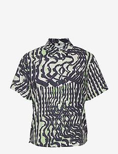 Mina shirt ss aop 11332 - short-sleeved shirts - seismograph