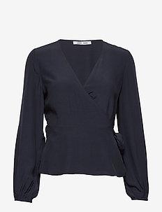 Veneta blouse 10864 - langermede bluser - night sky