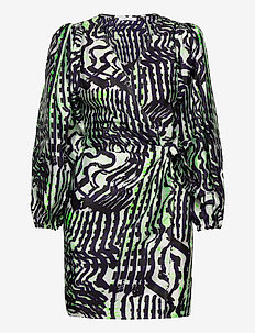 Magnolia short dress aop 11244 - slå-om-kjoler - seismograph