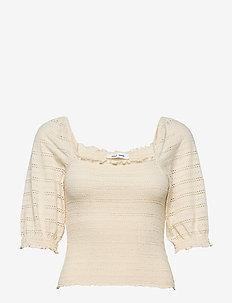 Pia blouse 12704 - lyhythihaiset puserot - warm white