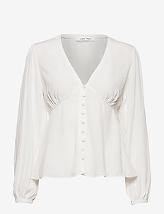 Petunia blouse 10056 - langermede bluser - clear cream
