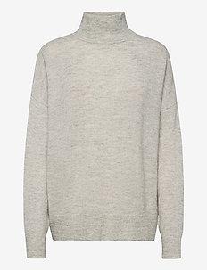 Jaci turtleneck 12757 - polotröjor - light grey