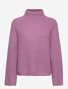 Reeves turtleneck 12747 - jumpers - purple jasper