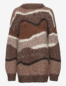Janie crew neck 10976 - pullover - cinnamon