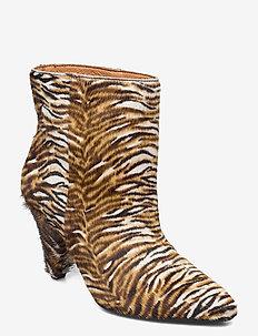 Myrassa boot low 12876 - ankelstøvler med hæl - tiger pony