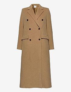 Falcon coat 11104 - wełniane płaszcze - dull gold