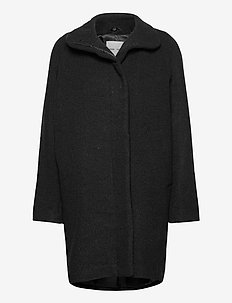 Hoffa jacket 12840 - wełniane płaszcze - black