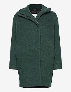 Hoffa jacket 12840 - wełniane płaszcze - darkest spruce mel.