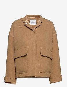Zira jacket 12844 - wełniane kurtki - camel