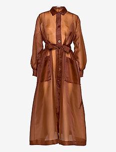 Chantara coat 12854 - maxi kjoler - cinnamon