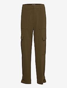 Citrine trousers 10654 - broeken med straight ben - dark olive