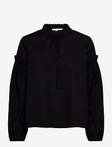 Maia shirt 11468 - bluzki z długimi rękawami - black