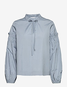 Maia shirt 11468 - langærmede bluser - dusty blue