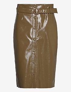 Caroli skirt 12869 - midihameet - dark olive