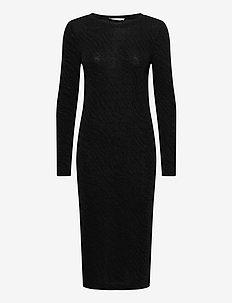 Jenara dress 12821 - strikkjoler - black