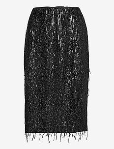 Alpina skirt 12784 - midinederdele - black