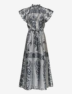 Karookh long dress aop 11244 - maxikjoler - porcelain