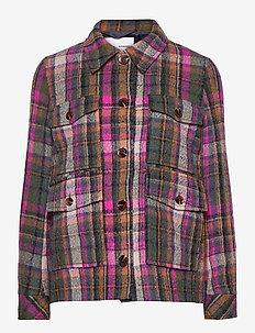 Agathe jacket 12897 - wolljacken - magenta ch.