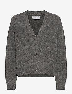 Etaya cardigan 12759 - swetry rozpinane - dark grey mel.