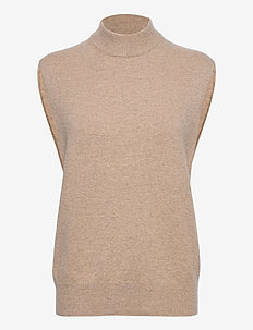 Amary vest 12758 - strikveste - warm grey mel.