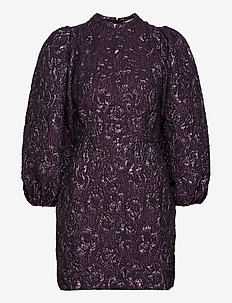 Harriet short dress 12905 - korte kjoler - purple jasper