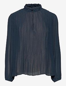 Lady ls blouse 11185 - bluzki z długimi rękawami - midnight navy