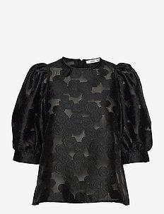 Celestina blouse 12939 - kortærmede bluser - black