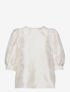 Celestina blouse 12939 - kortærmede bluser - clear cream