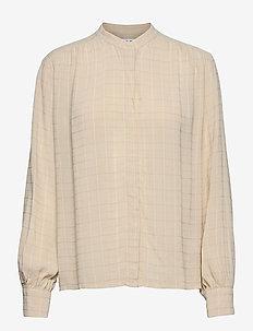 Rochelle shirt 12957 - langærmede skjorter - chalk