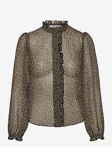Zarani ls shirt aop 12888 - langærmede bluser - winter twiggy