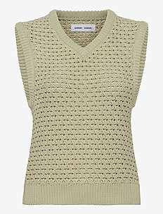 Ella vest 12935 - knitted vests - fog green