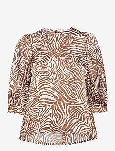 Celestina blouse aop 12887 - short-sleeved blouses - mountain zebra