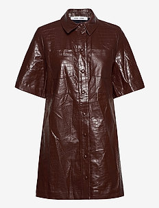 Myla dress 13102 - hverdagskjoler - chocolate fondant