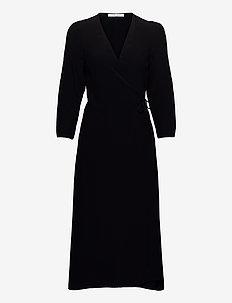 Britt wrap dress 10864 - hverdagskjoler - black