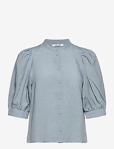 Mejse shirt 12771 - kortærmede skjorter - dusty blue
