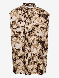 Tea shirt top aop 10783 - kootud vestid - camo clay