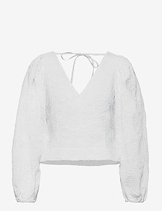 Anai blouse 13089 - long sleeved blouses - bright white