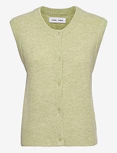 Nor cardigan vest 7355 - kootud vestid - tarragon mel.