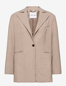 Valerienne jacket 13154 - oversize kavajer - brown rice