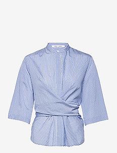 Sylvia ss shirt 14014 - langærmede bluser - mini blue st.