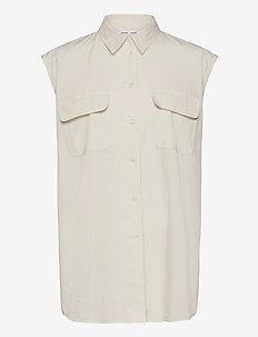 Tea shirt top 11466 - chemises en jeans - antique white