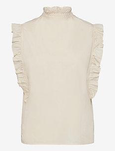Marthy shirt top 11466 - Ærmeløse bluser - antique white