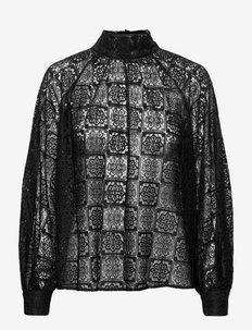 Fan blouse 14127 - bluzki z długimi rękawami - black