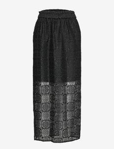 Fan skirt 14127 - midinederdele - black