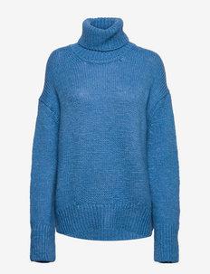 Molli turtleneck 14077 - turtlenecks - lichen blue