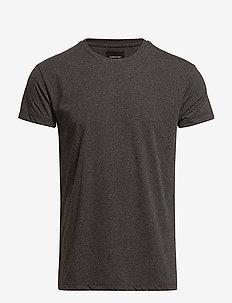 Kronos o-n ss 273 - basic t-shirts - black mel.