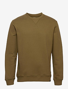 Hugo crew neck 11414 - basic-sweatshirts - dark olive