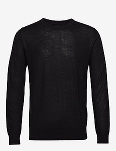 Flemming crew neck 3111 - basic-strickmode - black