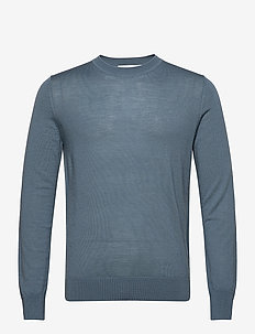 Flemming crew neck 3111 - basic strik - blue mirage